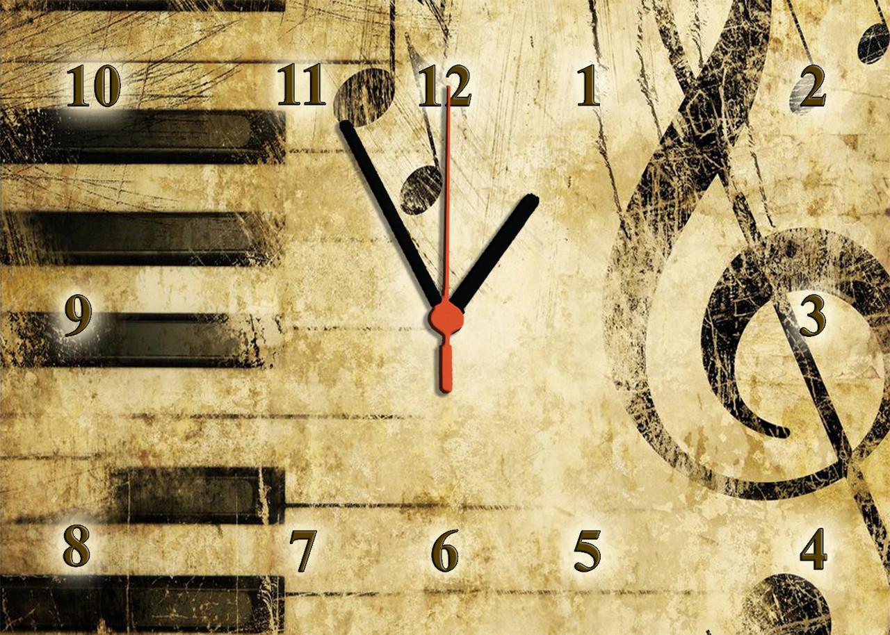 """Часы настенные стеклянные """"Ретро мелодия """""""