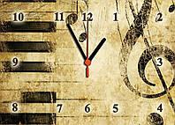 """Часы настенные стеклянные """"Ретро мелодия """", фото 1"""
