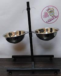 """Стійка ТМ """"Совушка"""" з мисками для собак 2 х 0,75 л"""