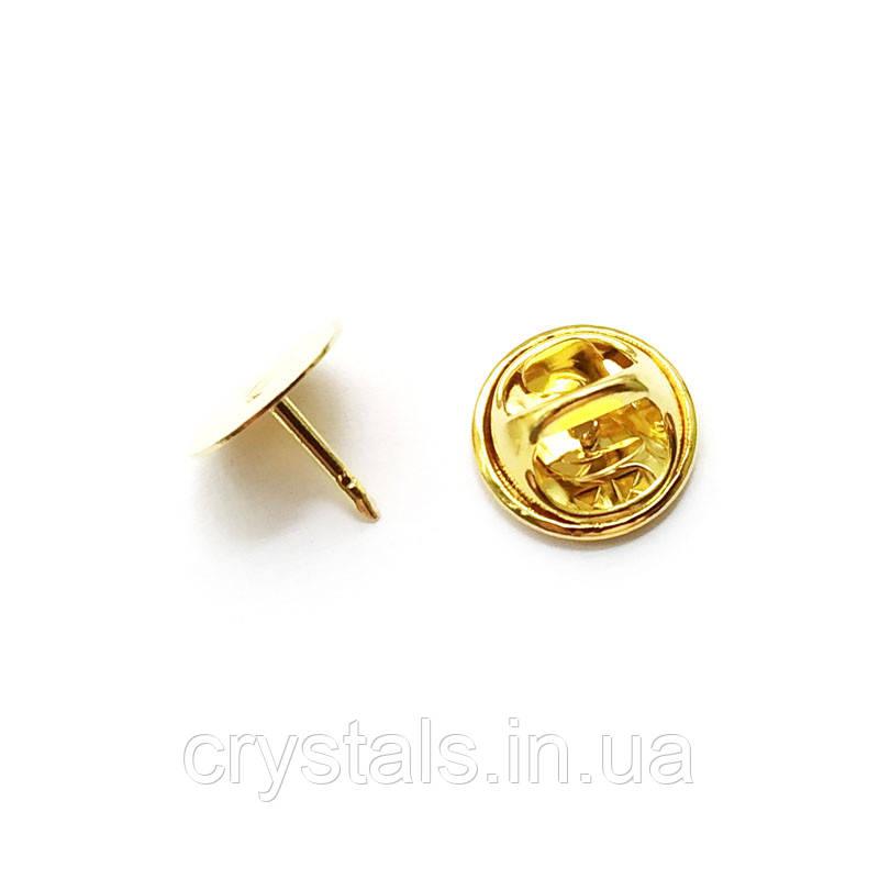 Основа для броши, бабочка, Япония 10 мм, золото