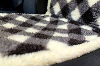 Меховая накидка из овчины на сиденье Ромбики, фото 3