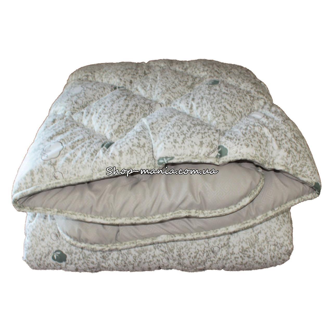 Одеяло зимнее теплое стеганное евро 200х220 см холлофайбер ODA SM 8005 white and grey