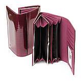 PODIUM Кошелек LR кожа-лак SERGIO TORRETTI W1-V purple-red, фото 3