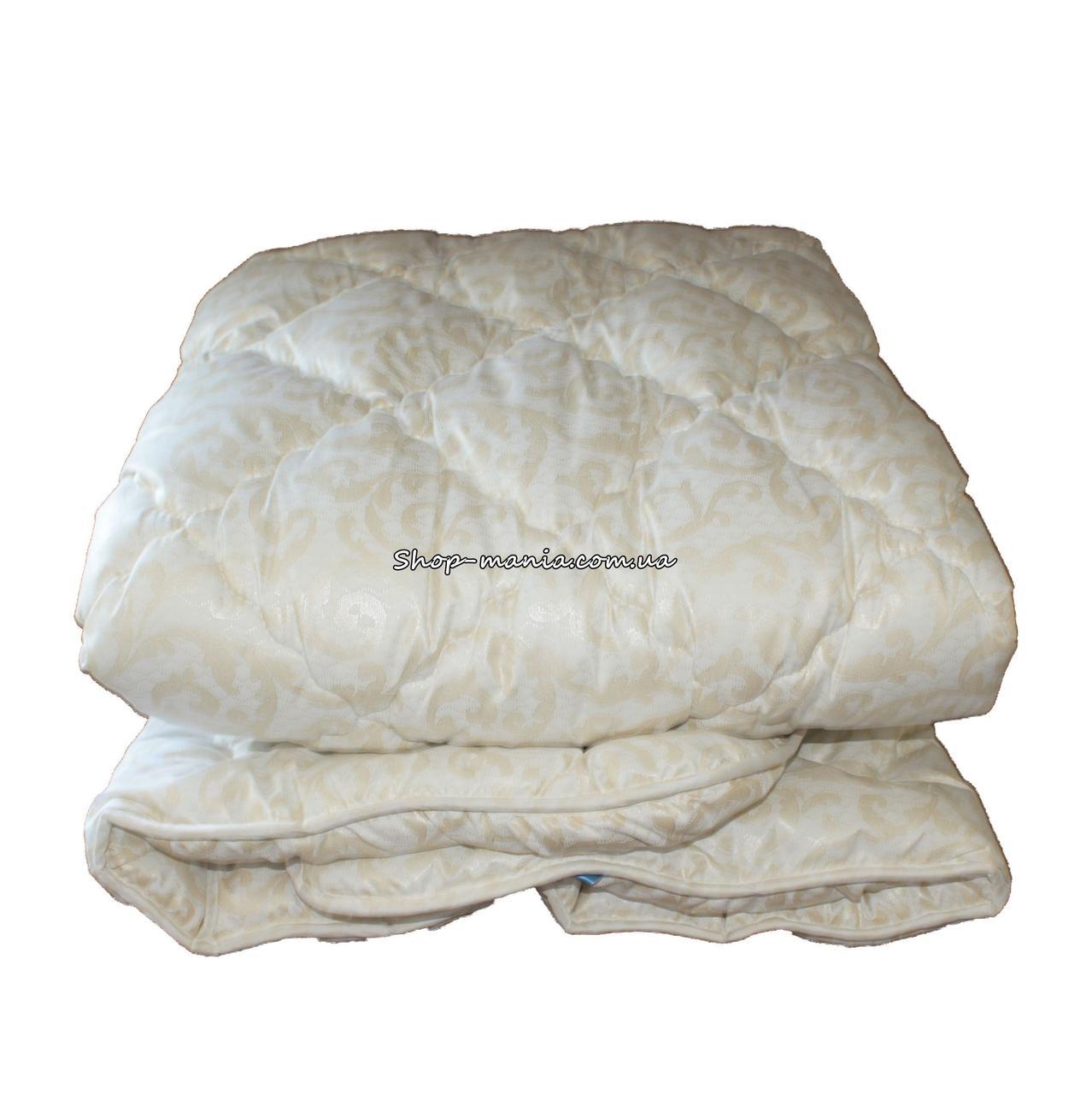Одеяло зимнее теплое стеганное евро 200х220 см холлофайбер ODA SM 8008 biege