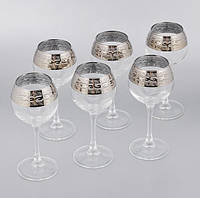 "Набор бокалов 280 мл для вина ""Эдем"" рисунок Версаче 6 шт."