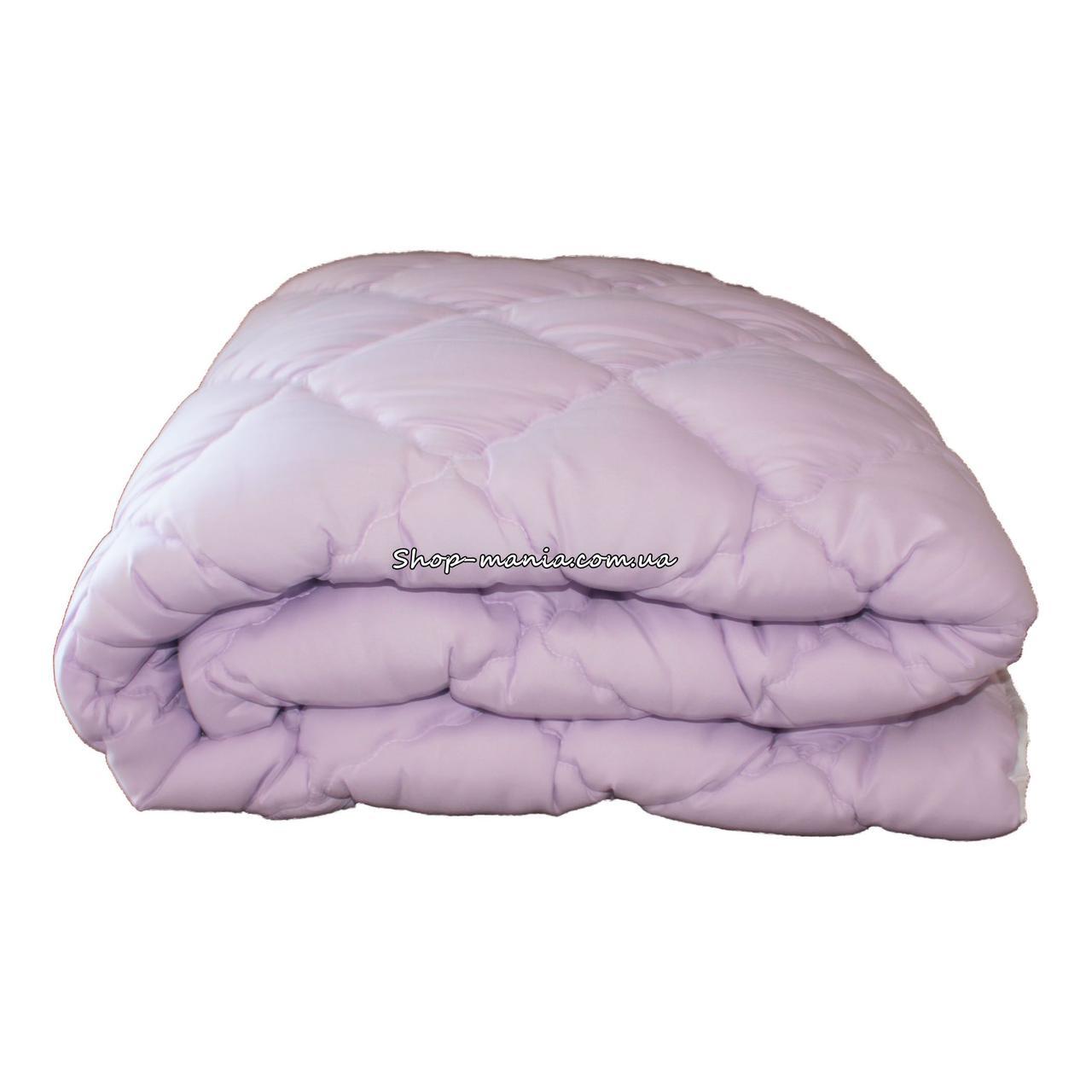 Одеяло зимнее теплое стеганное двуспальное 175х210 см холлофайбер ODA SM 8001-2 purple