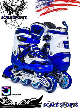 Ролики Scale Sports LF 967 Синие, размер 34-37, фото 2