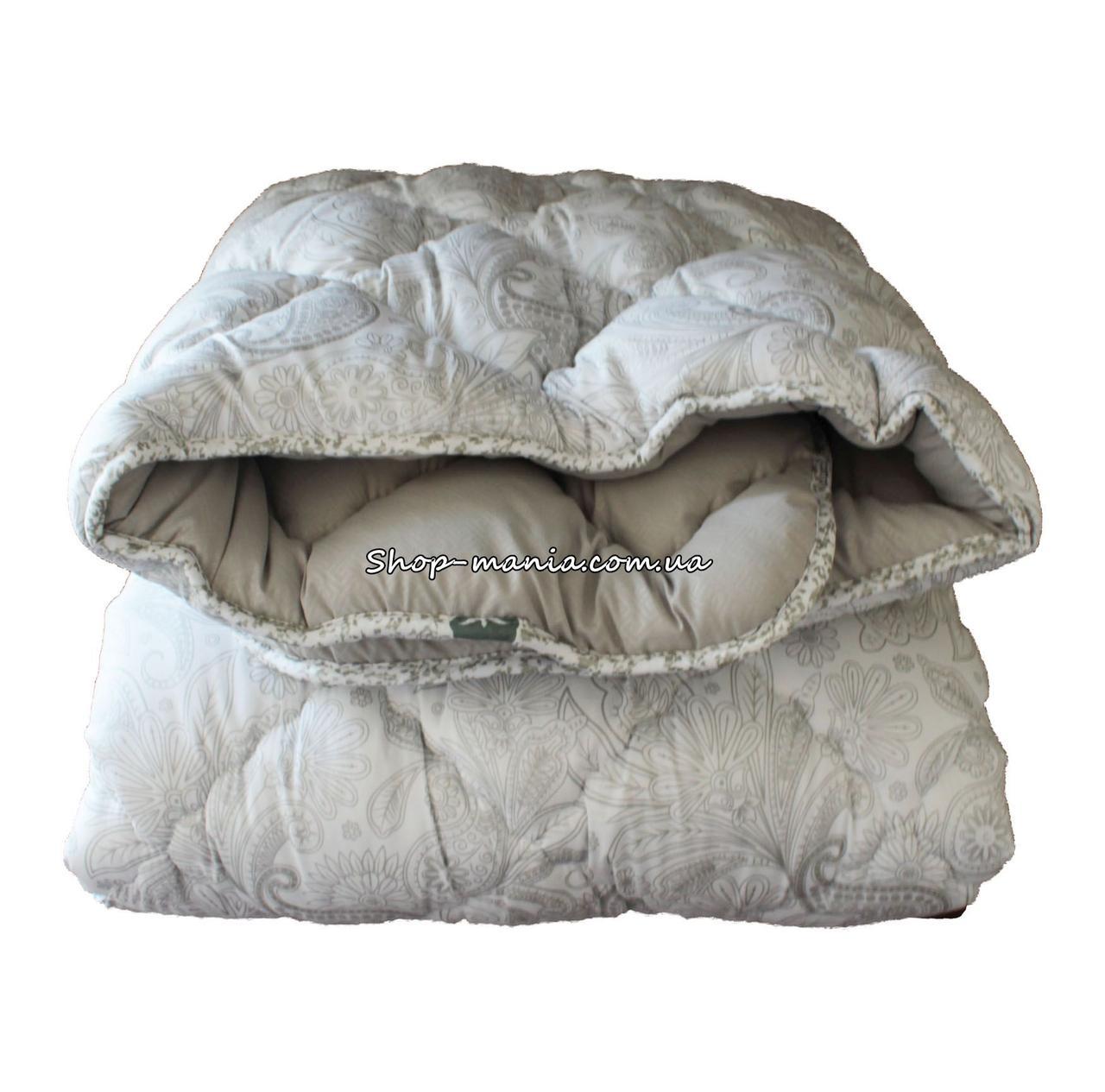 Одеяло зимнее теплое стеганное двуспальное 175х210 см холлофайбер ODA SM 8006-2 white and grey