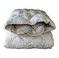 Одеяло зимнее теплое стеганное двуспальное 175х210 см холлофайбер ODA SM 8006-2 white and grey, фото 1