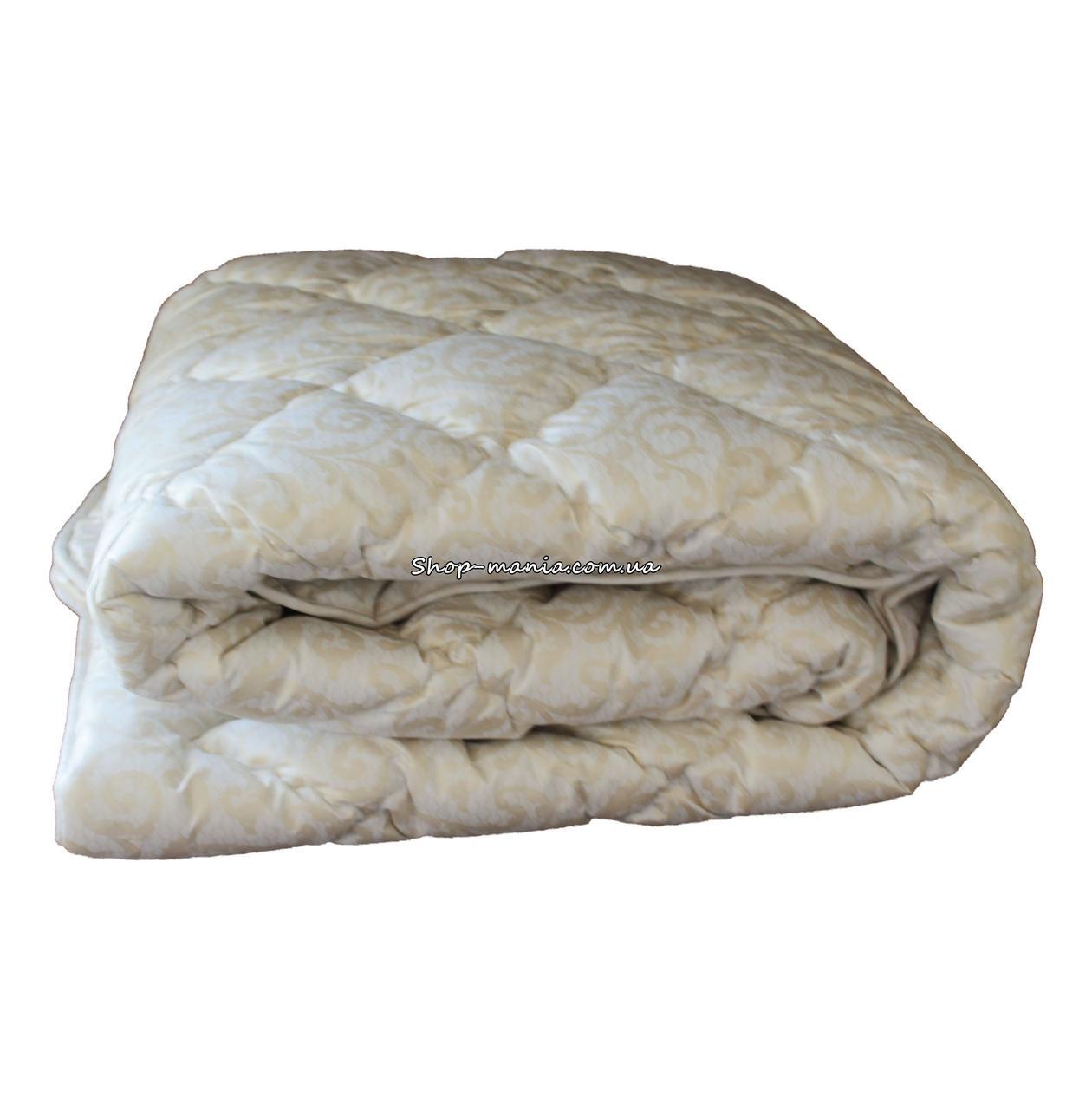 Одеяло зимнее теплое стеганное двуспальное 175х210 см холлофайбер ODA SM 8008-2 biege