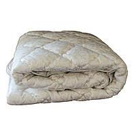 Одеяло зимнее теплое стеганное двуспальное 175х210 см холлофайбер ODA SM 8008-2 biege, фото 1
