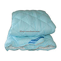 Одеяло зимнее теплое стеганное двуспальное 175х210 см холлофайбер ODA SM 8009-2 blue and white, фото 1