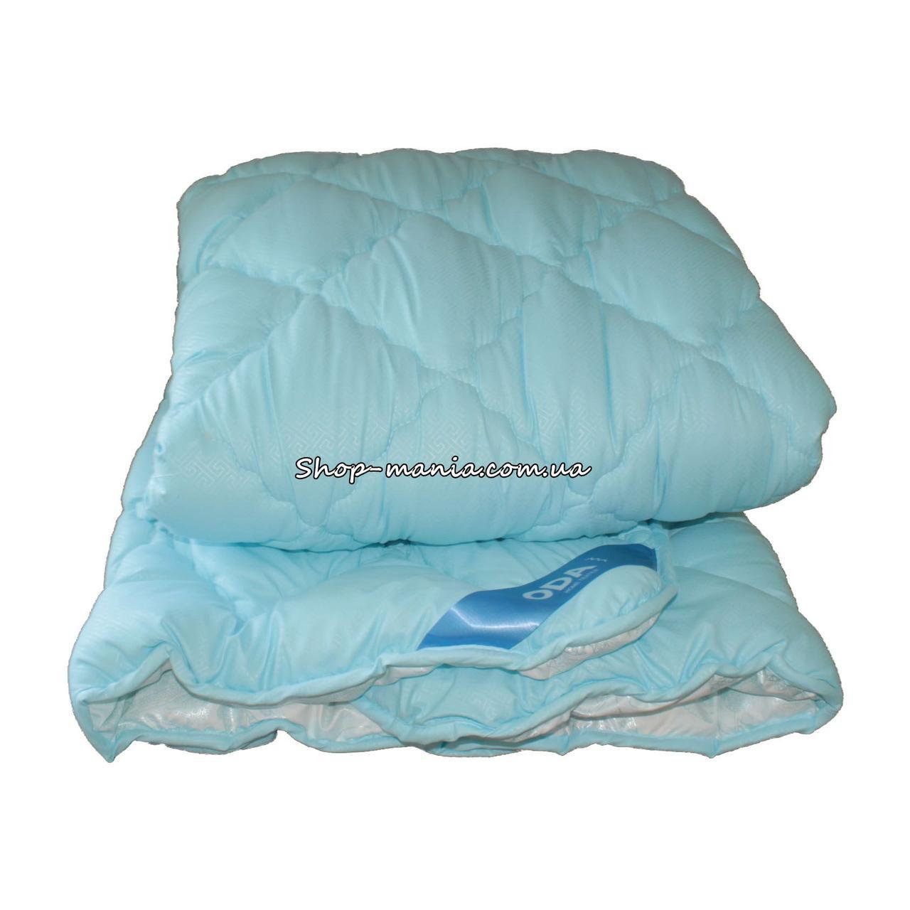 Одеяло зимнее теплое стеганное полуторное 155х210 см холлофайбер ODA SM 8009-1 blue and white