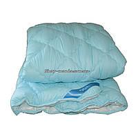 Одеяло зимнее теплое стеганное полуторное 155х210 см холлофайбер ODA SM 8009-1 blue and white, фото 1