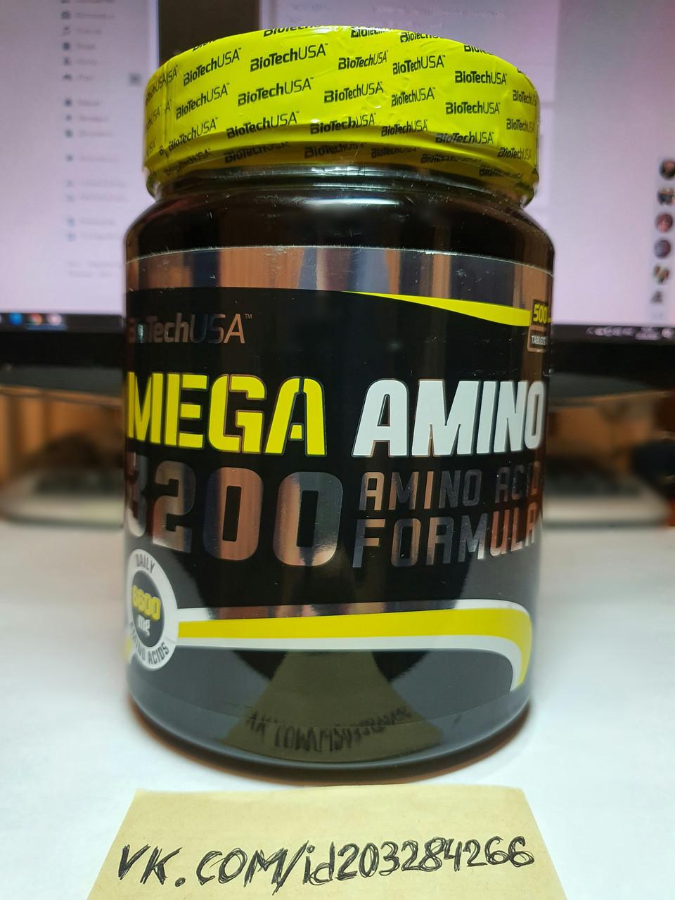 Комплекс аминокислот BioTech Mega Amino 3200 500 табл