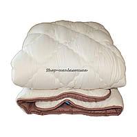 Одеяло зимнее теплое стеганное полуторное 155х210 см холлофайбер ODA SM 8007-1 biege and brown, фото 1
