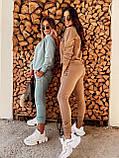 Спортивний костюм жіночий фісташка, кэмэл, фото 2