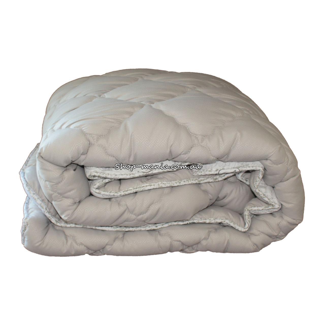 Одеяло зимнее теплое стеганное полуторное 155х210 см холлофайбер ODA SM 8004-1 grey and white