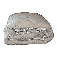 Одеяло зимнее теплое стеганное полуторное 155х210 см холлофайбер ODA SM 8004-1 grey and white, фото 1