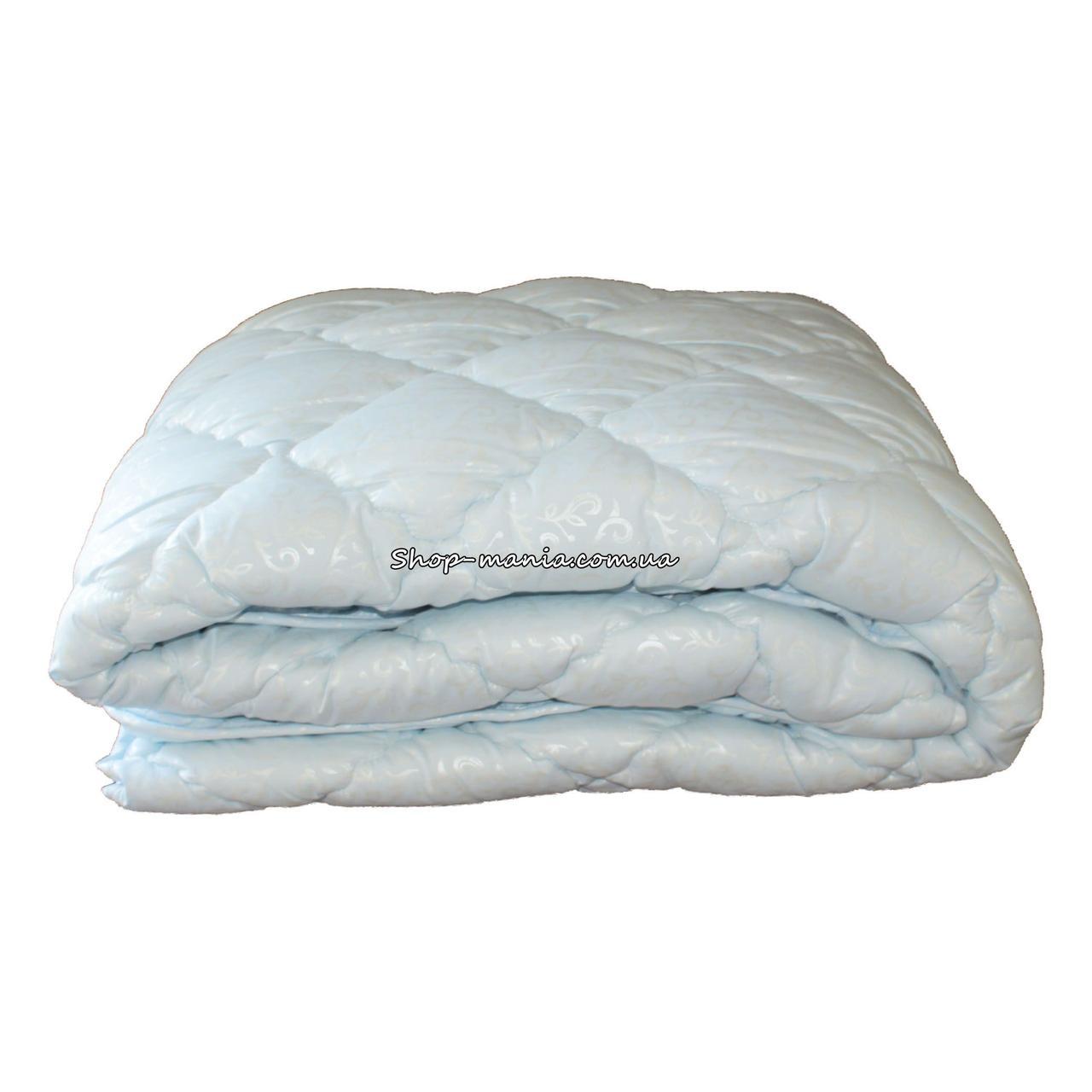 Одеяло зимнее теплое стеганное полуторное 155х210 см холлофайбер ODA SM 8002-1 blue