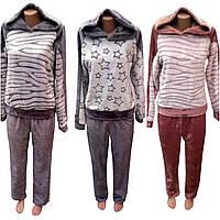 Пижама для дома и сна махра с капюшоном, фото 1