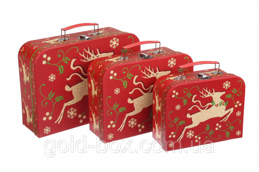Новорічні подарункові коробочки 3 в 1 оптом