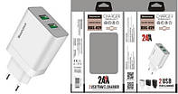 Адаптер 220v 2 USB 2100mA RDX-29 + Micro USB Black/Grey