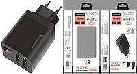 Адаптер 220v 2 USB 2100mA RDX-30 + Micro USB Black/Grey LED Display