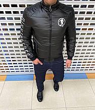 Мужская осенняя куртка Bikkembergs H0932 черная