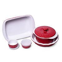 Набор керамической посуды Kamille для запекания 8 предметов KM-6106