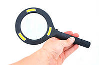 Лупа ручная 3X, 80 мм с подсветкой Magnifying Glass Lens 9033, фото 1