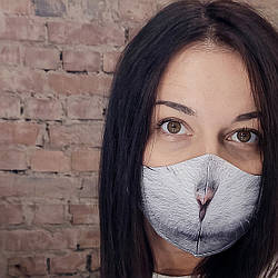 Захисна маска особи Мордочка котика 22х11 см (SMM_20S051)