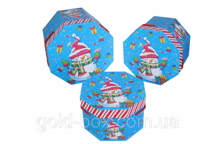 Новорічна подарункова коробочка 3 в 1 оптом