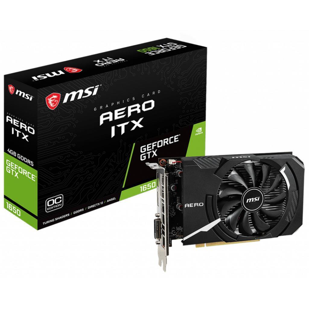 Видеокарта MSI GeForce GTX1650 4096Mb AERO ITX OC (GTX 1650 AERO ITX 4G OC)