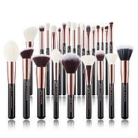 Полный набор кистей для макияжа (25 шт) Jessup beauty/Base Black-Rose Gold
