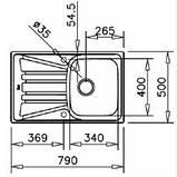 Кухонная мойка Тека Basico 79 1B 1D с крылом 79*50, фото 2