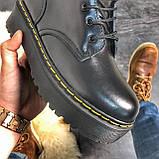 Женские зимние ботинки Dr. Martens Jadon Black (Мех), др мартенс, жіночі черевики Dr Martens, ботінки мартінс, фото 5