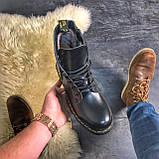 Женские зимние ботинки Dr. Martens Jadon Black (Мех), др мартенс, жіночі черевики Dr Martens, ботінки мартінс, фото 2