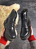 Женские зимние ботинки Dr. Martens Jadon Black (Мех), др мартенс, жіночі черевики Dr Martens, ботінки мартінс, фото 4