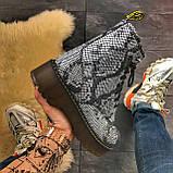 Женские зимние ботинки Dr. Martens Jadon Snake (Мех), др мартенс, жіночі черевики Dr Martens, ботінки мартінс, фото 6