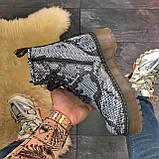 Женские зимние ботинки Dr. Martens Jadon Snake (Мех), др мартенс, жіночі черевики Dr Martens, ботінки мартінс, фото 3