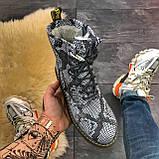Женские зимние ботинки Dr. Martens Jadon Snake (Мех), др мартенс, жіночі черевики Dr Martens, ботінки мартінс, фото 2