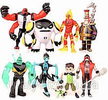Набір фігурок Бен10 9в1 зі світловими ефектами, 12 см - Ben 10 figure set