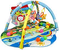 Развивающий коврик с дугами и игрушками для малышей Lionelo Imke, LOE.IM01