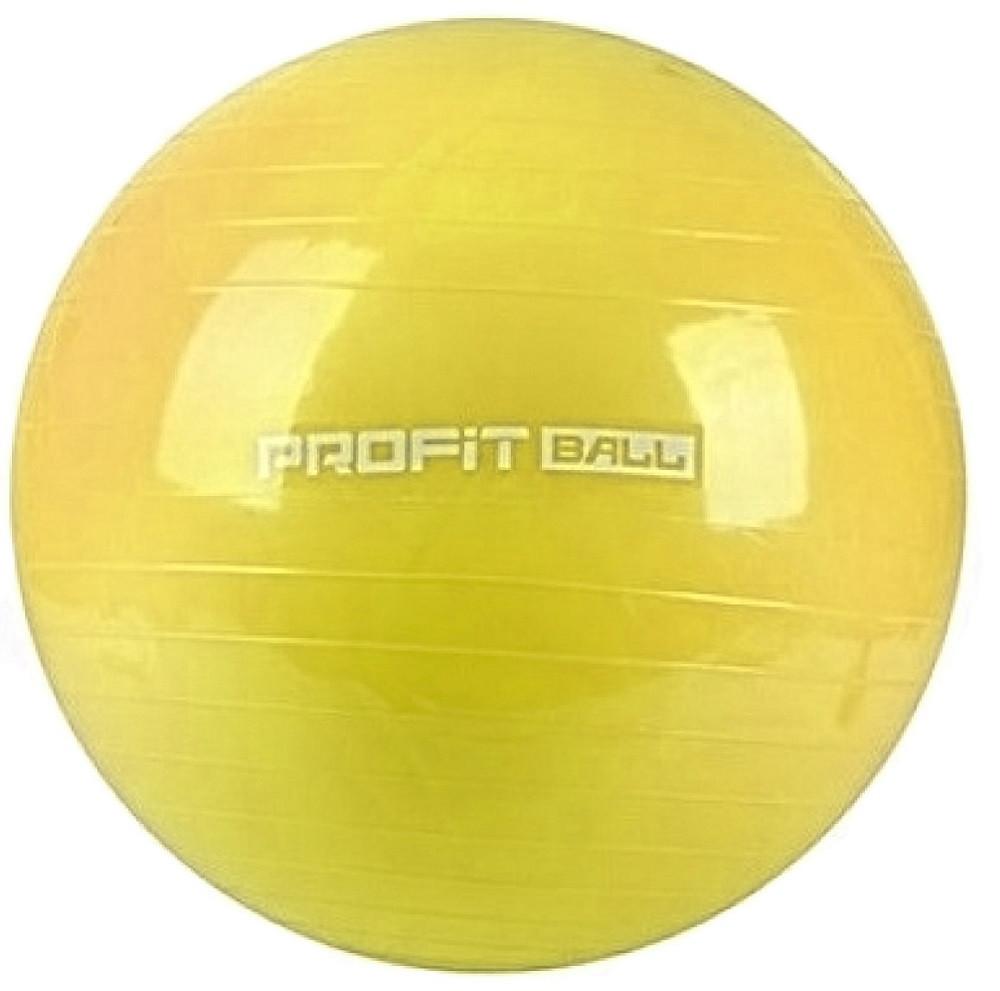 Мяч для фитнеса Фитбол Profit 0382, желтый