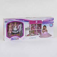 Домик кукольный 66884 2 этажа, 3 куклы