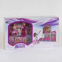 Домик кукольный 66921 2 этажа, 2 куклы, машина, с аксессуарами