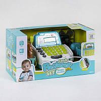 Кассовый аппарат 35532 А свет, звук, микрофон, сканер, корзинка с продуктами