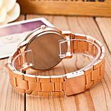 Женские наручные часы Geneva стильные и модные часики на руку с камнями золото серебро Розовый, фото 2