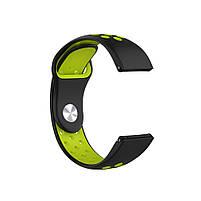 Ремінець для годинника Nike design bracelet Універсальний, 20 мм, Black with green, фото 2